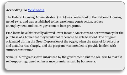 fha loan program
