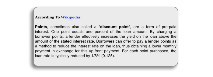 home loan points